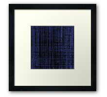 Line Art Dark Blue Matrix Framed Print