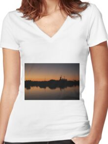 Reflection On The River Women's Fitted V-Neck T-Shirt