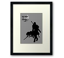 The Forces of Darkness Framed Print