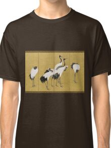 Maruyama okyo - First Of A Pair Of 6 Panel Screens. Bird painting: cute fowl, fly, wings, lucky, pets, wild life, animal, birds, little small, bird, nature Classic T-Shirt