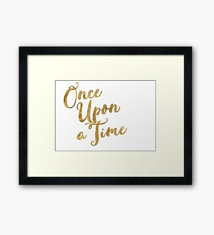 Golden Look Once Upon a Time Framed Print