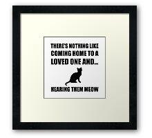 Loved One Meow Framed Print