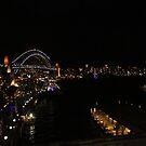 Sydney Harbour - Vivid 2016 by Kezzarama