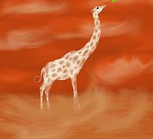 Hungry Giraffe by Megan Stone