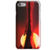 Dark Sunset on the Lake Front iPhone Case/Skin