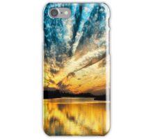 Golden Sunset on the Blue Horizon iPhone Case/Skin