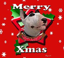 Merry Xmas from Bull Terrier by Matterotica
