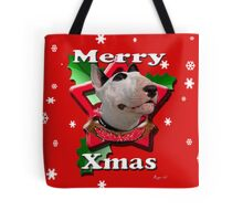 Merry Xmas from Bull Terrier Tote Bag