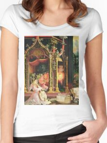 Matthias Grunewald - Concert Of Angels From The Isenheim Altarpiece. Child portrait: angel, concert, violin, pretty angel,  cello, musical instrument, church, chancel, musician, childhood Women's Fitted Scoop T-Shirt