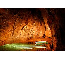 Underground Lake in Cave Photographic Print
