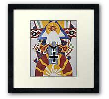 Marsden Hartley - Painting Number 49, Berline. Abstract painting: abstract art, geometric, expressionism, composition, lines, forms, creative fusion, spot, shape, illusion, fantasy future Framed Print
