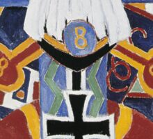 Marsden Hartley - Painting Number 49, Berline. Abstract painting: abstract art, geometric, expressionism, composition, lines, forms, creative fusion, spot, shape, illusion, fantasy future Sticker