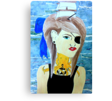 girl with boat in her hair Canvas Print