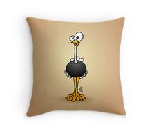 Struisvogel op een kussentje