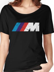 BMW M logo - white Women's Relaxed Fit T-Shirt