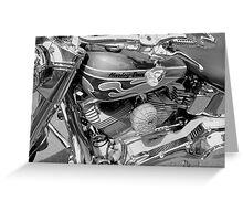 Black and White Harley Greeting Card