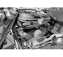 Black and White Harley Photographic Print