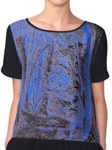 Textured Forest Chiffon Top