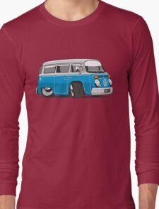 VW T2 Microbus cartoon blue Long Sleeve T-Shirt