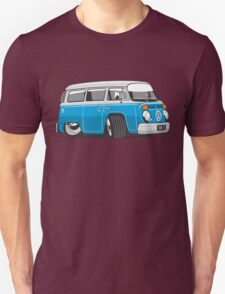 VW T2 Microbus cartoon blue Unisex T-Shirt