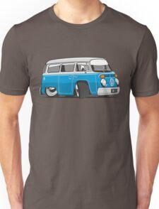 VW T2 Microbus cartoon blue Unisex T-Shirt