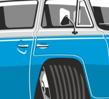 VW T2 Microbus cartoon blue Sticker