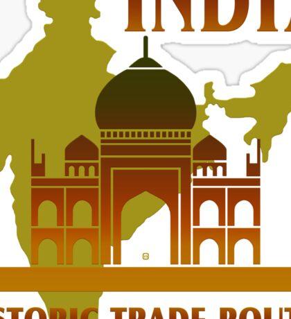 India Historic Trade Routes Sticker
