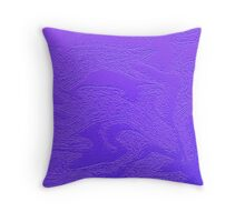 purple pillow or phone case Throw Pillow