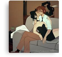 Celty n' Shinra Canvas Print