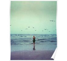 Woman at the Sea Shore Poster