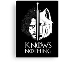 White Wolf Snow Knows Nothing Canvas Print