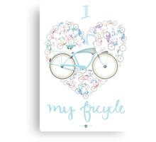 I Love my Bicycle Print Metal Print