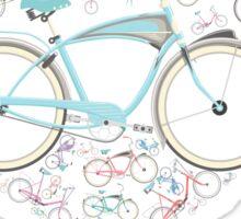 I Love my Bicycle Print Sticker