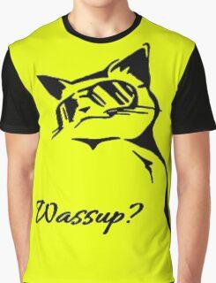 Wassup Badass Cat Graphic T-Shirt