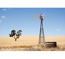 Wind driven water pump South Australia Photographic Print