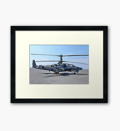 helicopter Ka-52 Alligator Framed Print
