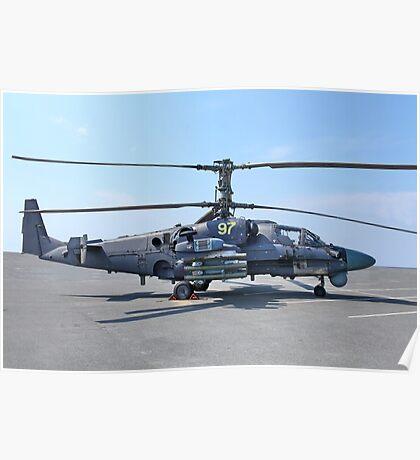 helicopter Ka-52 Alligator Poster