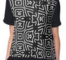 Mystic Black and White Pattern Chiffon Top