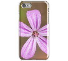 small pink flower with lovely details iPhone Case/Skin