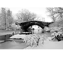 Snowy Bridge Photographic Print