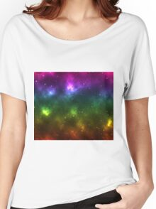 Rainbow Galaxy Women's Relaxed Fit T-Shirt