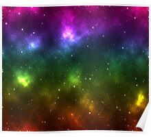 Rainbow Galaxy Poster