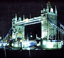 Tower Bridge London at night by flyingscot