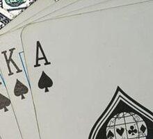 Royal Flush Spades Sticker