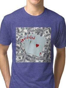 Royal Flush Hearts Tri-blend T-Shirt