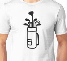 Golf bag Unisex T-Shirt