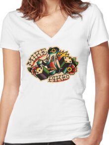 Spitshading 09 Women's Fitted V-Neck T-Shirt