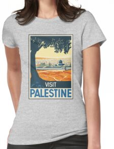 Vintage Travel Poster Visit Palestine Womens Fitted T-Shirt