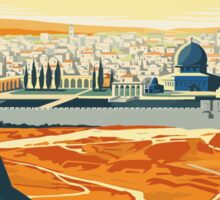 Vintage Travel Poster Visit Palestine Sticker