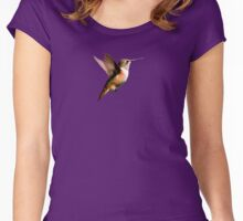 Hummer in Flight Women's Fitted Scoop T-Shirt